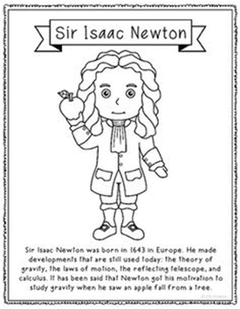 sir isaac newton mini biography president thomas jefferson coloring page craft or poster
