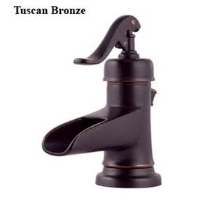 trough faucet in tuscan bronze for hammered