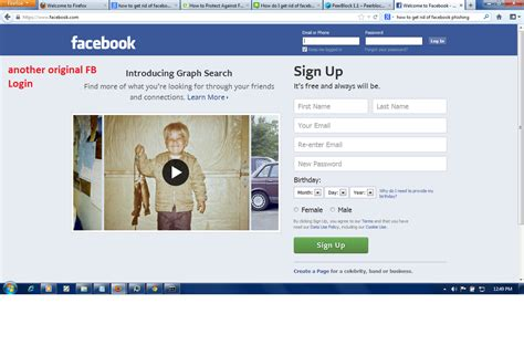 fb video facebook phishing difference between original and