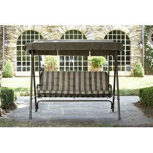 kmart patio swing garden oasis 3 seat swing with canopy limited availability