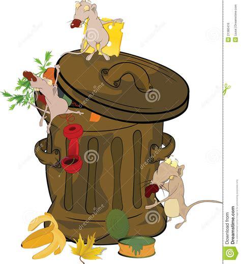 banco de imagenes royalty free banco e ratos do lixo desenhos animados imagem de stock