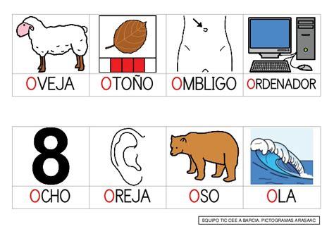 imagenes y palabras con la letra o palabras que empiezan por a e i o u