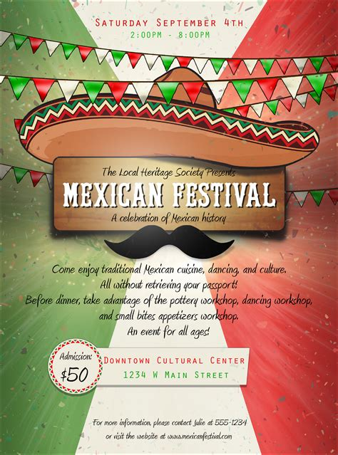 Mexican Fiesta Flyer Template mexican flyer
