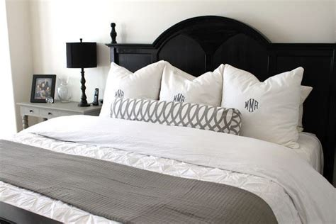 love headboard love the black headboard and white greys would love this