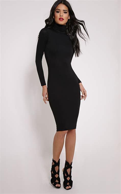 Dress Polo Basic prettylittlething womens midi dress basic black