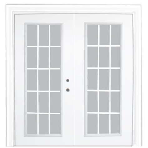 stanley doors 72 in x 80 in steel patio door with 15
