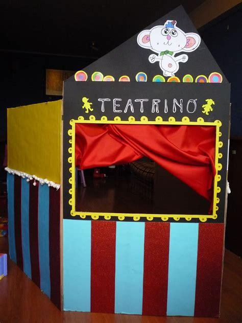 Caja Reciclada Teatrino Teatro Infantil Recycled