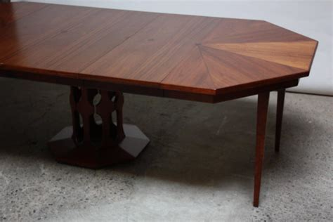 octagon dining room table octagonal walnut dining table attributed to harvey probber