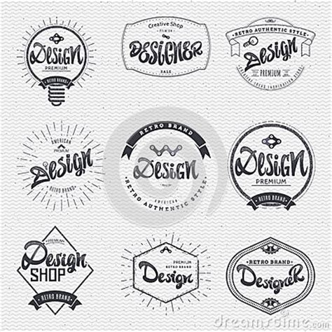 design elements in writing design insignia sticker can be used as a finished logo