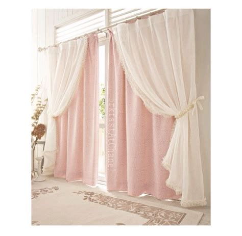 curtains for room brkfastatchanel home sweet home curtains pink curtains layered curtains