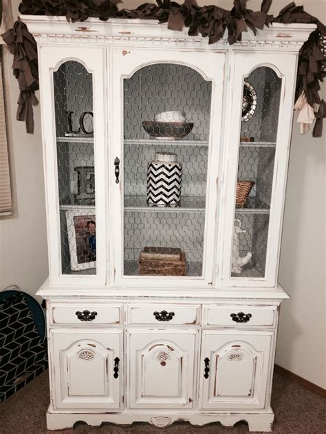 shabby chic china cabinet broyhill china cabinet hutch given a chalk painted shabby