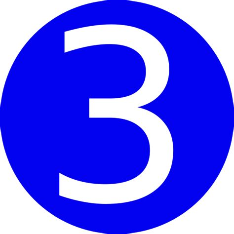 one east blue 1 2 3 blue rounded with number 3 clip at clker vector