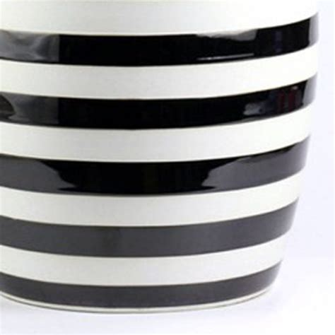 Black And White Garden Stool by Ryir116 Black White Stripe Stool All Ceramic Stool