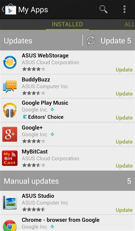my android apps how to update android apps pc advisor