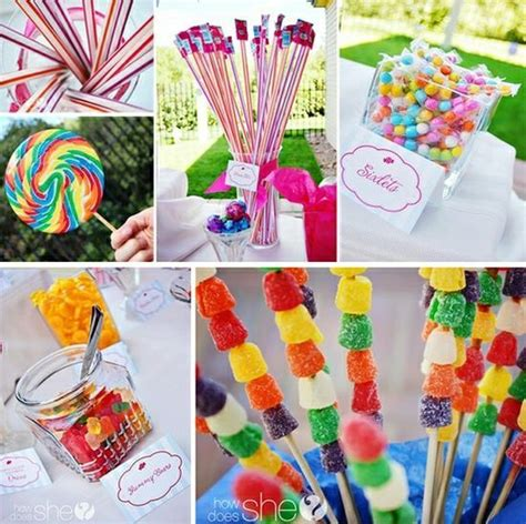 summer birthday party themes homemade summer party ideas great candy bar idea diy kids