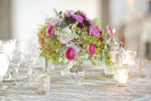 Romantic wedding reception table flower centerpiece pink onewed com