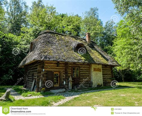 polish house music an old polish cottage house stock photo image 41812953