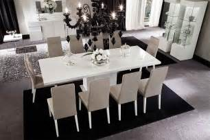 Sienna White White High Gloss Furniture Dining Room