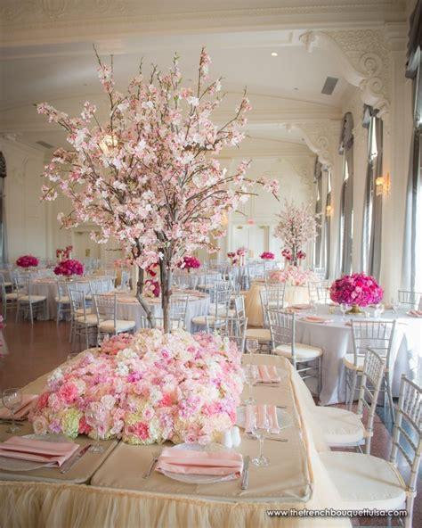 cherry blossom table centerpieces the bouquet inspiring wedding event