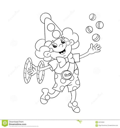 clipart da colorare coloring page outline of a clown juggling balls
