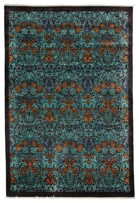 Arts And Crafts Area Rug Arts And Crafts Wool Area Rug Blue 6x9 Area Rugs By Rugs