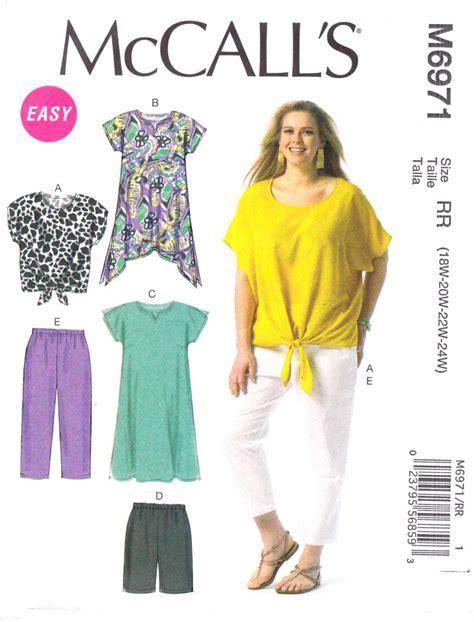 womens shirt pattern uk mccalls sewing pattern 6971 womens plus size 26w 32w easy