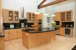 Kitchens With Light Maple Cabinets Modern Kitchen With Granite And Light Maple Cabinets Kitchen Maple Cabinets