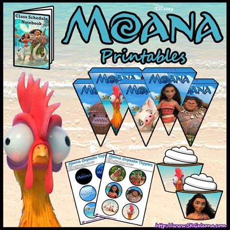 Moana Free Printables
