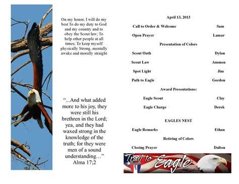 eagle scout program template eagle scout ceremony programs templates eagle scout