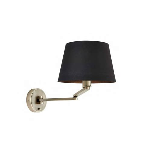 led swing arm wall l marlow led swing arm wall light in matt nickel finish