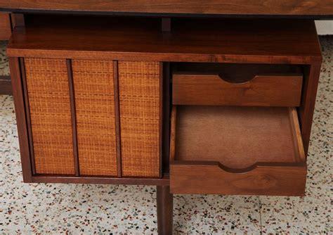 smart mid century walnut floating top desk at 1stdibs