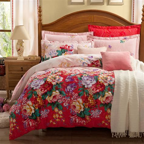 Quilt Set by 5 Pieces 3d King Size Comforter Set Quilt Duvet Set Bed In A Bag Bedding Floral Duvet