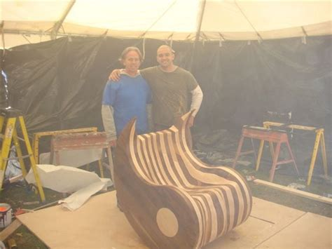 woodworkers shop pekin il walnut and maple ying yang chair donated to