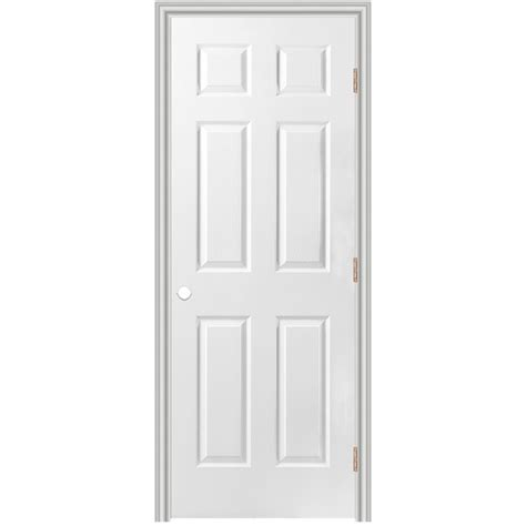 6 Panel Prehung Interior Doors Shop Masonite Prehung Hollow 6 Panel Interior Door Common 36 In X 80 In Actual 37 5 In