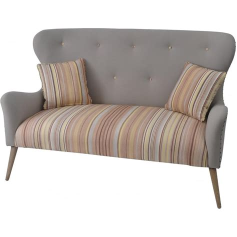 Striped Two Seater Sofa by Buy Libra And Striped Retro Two Seater Sofa From