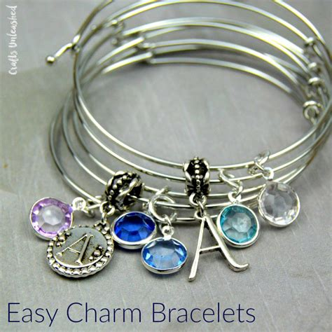how to make jewelry charms diy charm bracelet bangles tutorial crafts unleashed