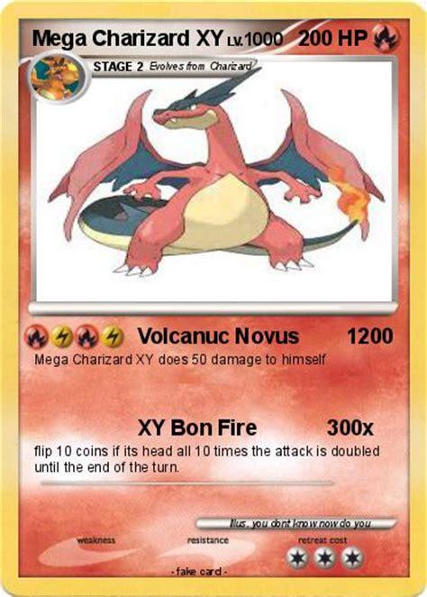printable pokemon cards xy pok 233 mon mega charizard xy volcanuc novus 1200 my
