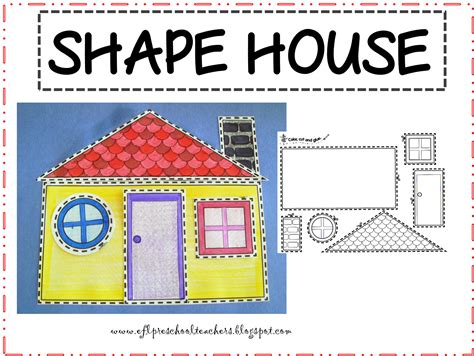 shape of house esl efl preschool teachers april 2013