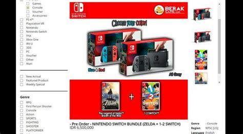 nintendo switch sudah bisa dipesan di indonesia berapa