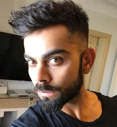 haircuts of virat virat kohli beard style look virat kohli beard images