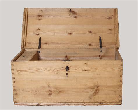 Handmade Trunk - antique handmade bleached pine domed top trunk second
