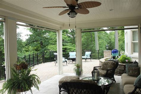 outside porch screened porches with retractable screens stoett industries