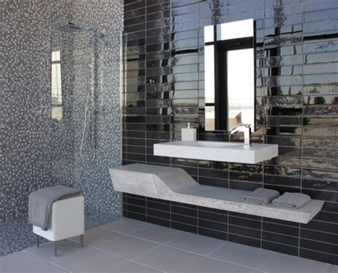 modern bathrooms tiles porcelanosa black 3x12 modern tile san