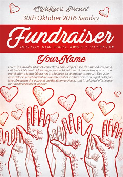 free fundraising flyer templates freepsdflyer community fundraiser free flyer template