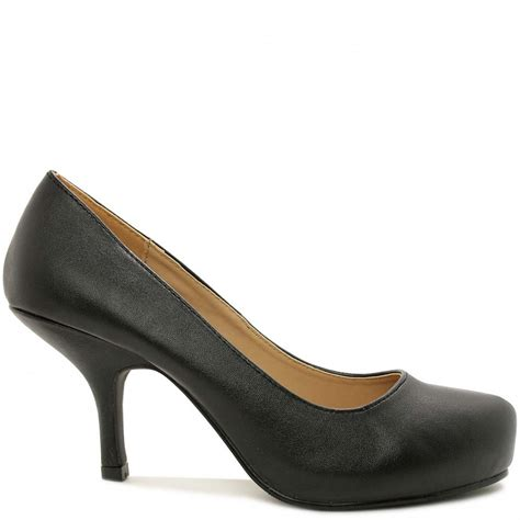 black leather style court shoes buy black leather style
