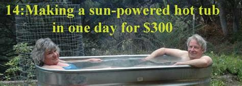 make your bathtub a jacuzzi make a solar hot tub in one day for 300