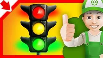 traffic light children handy andy cartoon colors traffic light vehicles children