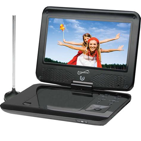Tv Portable 9 With Usbsd Card supersonic sc 259 9 tft portable dvd cd mp3 player with