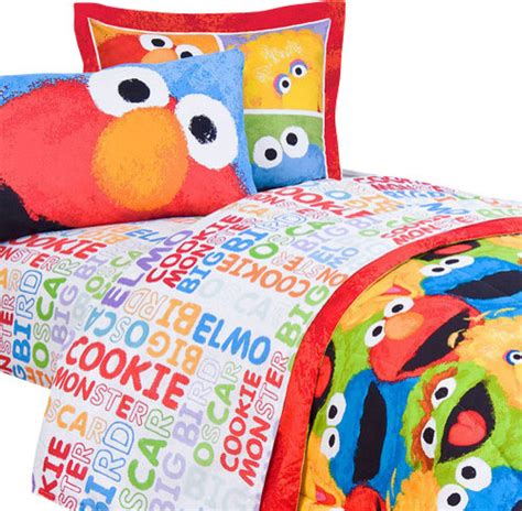 elmo toddler bed set jay franco and sons sesame street chalk 3 pieces elmo