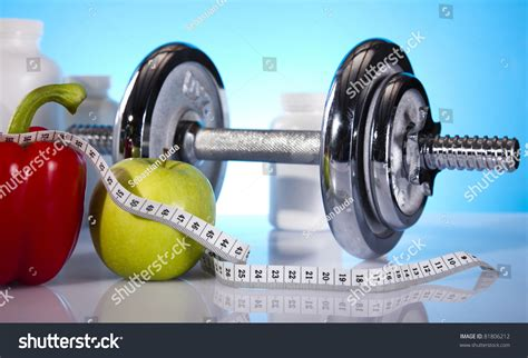 Dumbell Fitness Fitness Dumbell Stock Photo 81806212